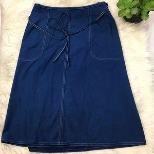 Vintage 70's Blue Koret Wrap Skirt